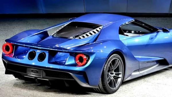 2016 - Ford GT Supercar Rear View