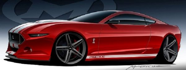Ford Shelby Mustang GT500 2016 - Side View