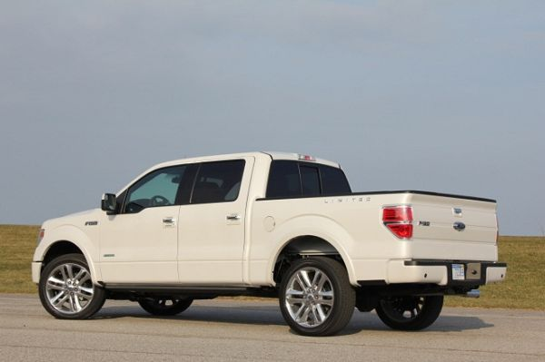Rear View of 2015 Ford F-150 Lariat