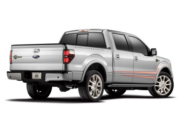 Rear View of 2015 - Ford F150 Harley Davidson
