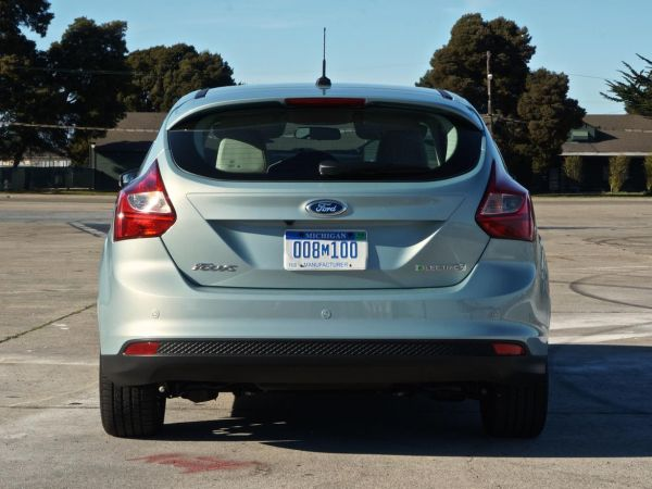 Rear View of 2015 Ford Focus Electric