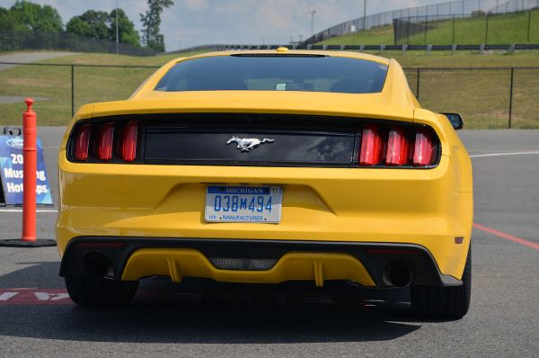 Rear View of 2015 - Ford Mustang Ecoboost