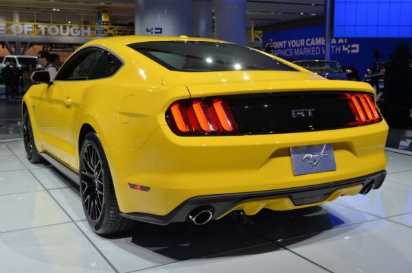 Rear View of 2015 - Ford Mustang GT Premium Fastback