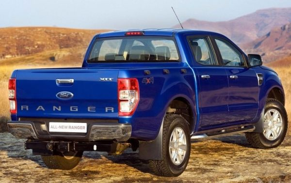 Rear View of 2015 Ford Ranger