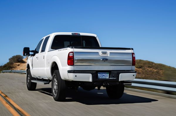 Rear View of 2015 Ford Super Duty