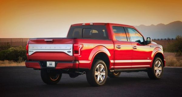Rear View of 2016 Ford – F 150
