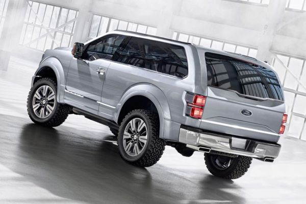 Rear View of 2016 - Ford Bronco SVT