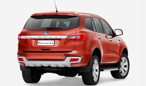 Rear View of 2016 Ford - Everest