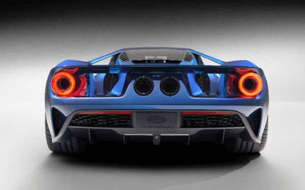 Rear View of 2017 Ford GT Supercar