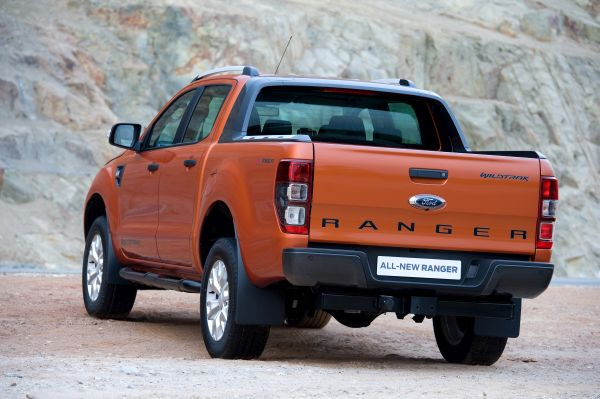 Rear View of 2017 Ford Ranger